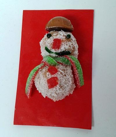 Snežaki - sladice brez peke - simpatičen snežak