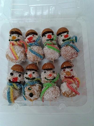 Snežaki - sladice brez peke