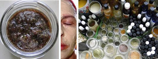 Naravna kozmetika kolaž