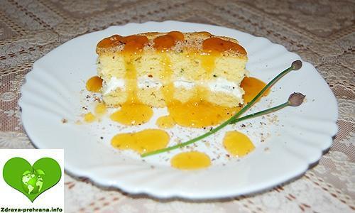 Drobnjakov biskvit s feta sirom in zelišči